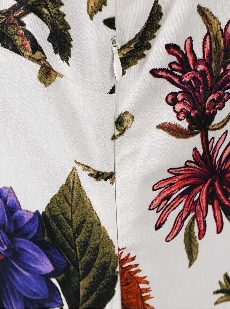 Krémové šaty s potiskem květin Smashed Lemon