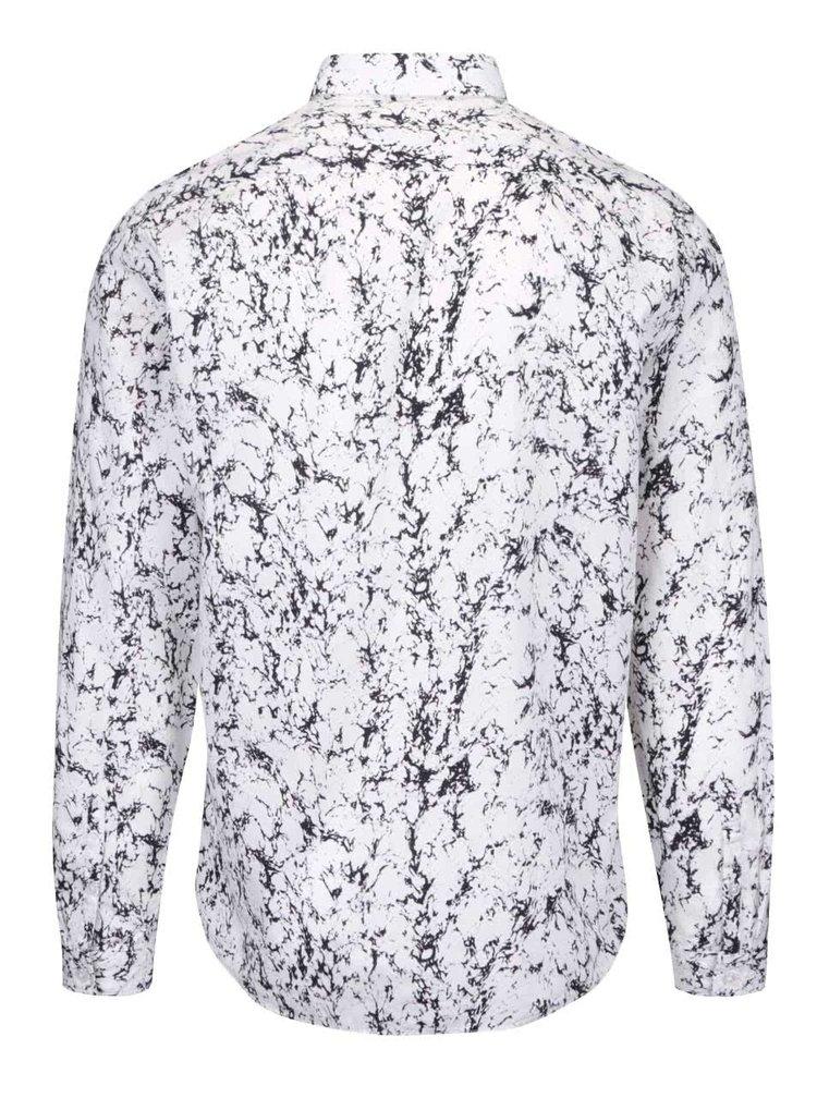 Bílá košile s mramorovým vzorováním Lindbergh