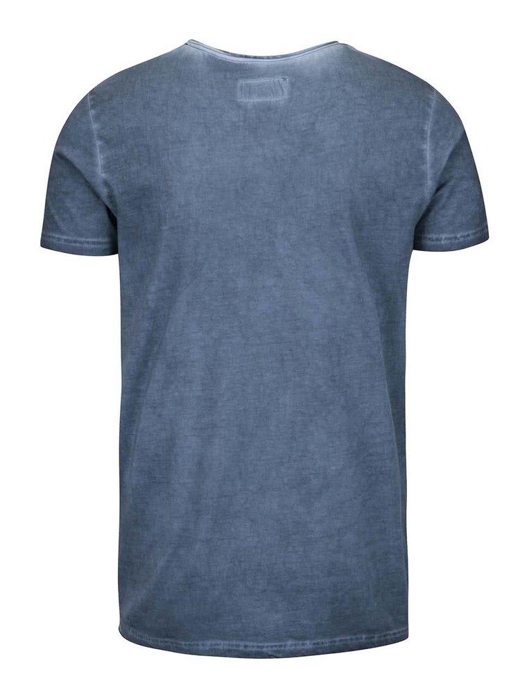 Modré tričko s potiskem Shine Original