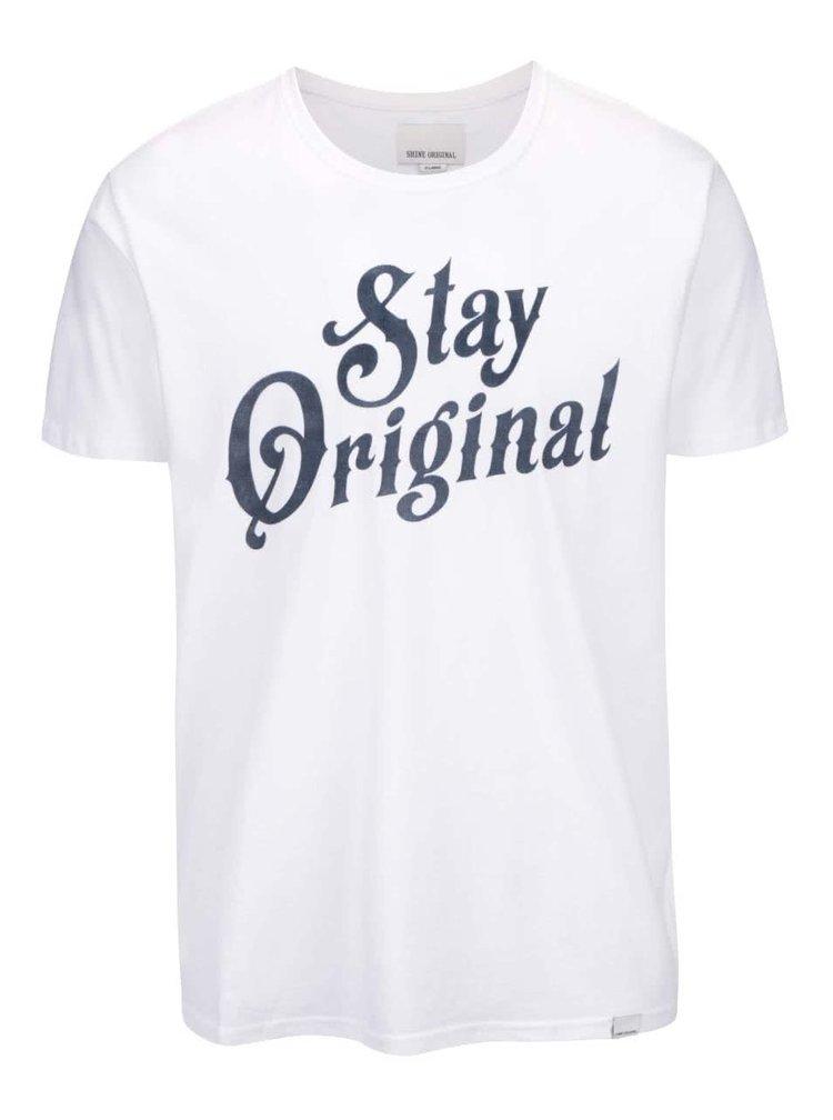Tricou Shine Original alb cu mesaj