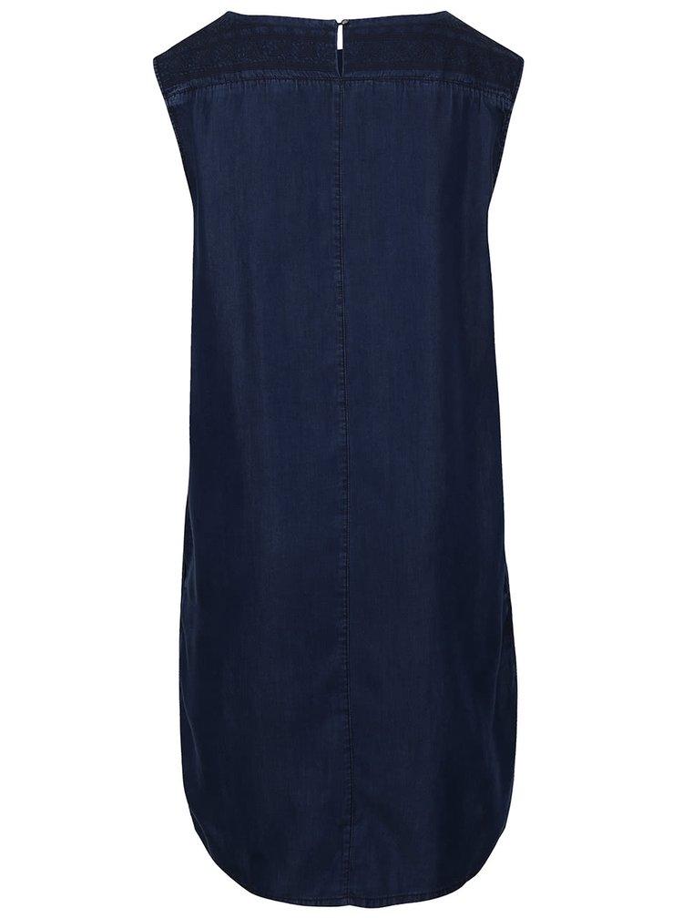Tmavomodré šaty s vyšitým vzorom s.Oliver