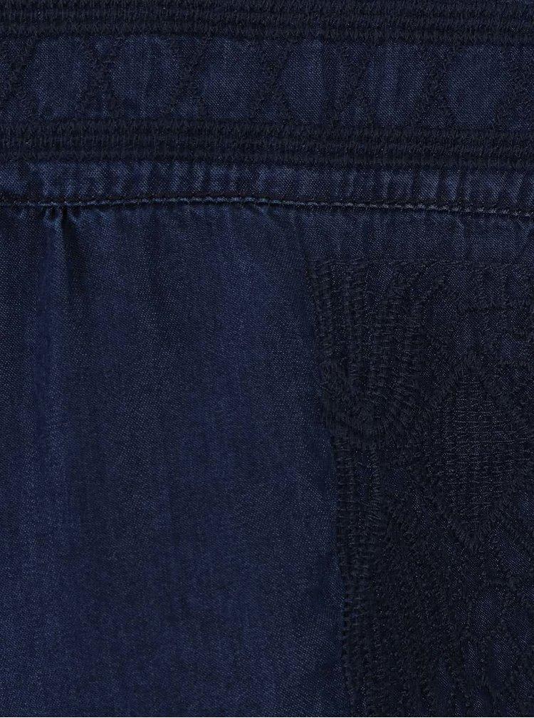 Tmavě modré šaty s vyšitým vzorem  s.Oliver