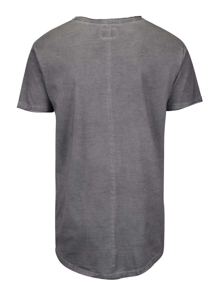Tmavosivé tričko s potlačou Shine Original