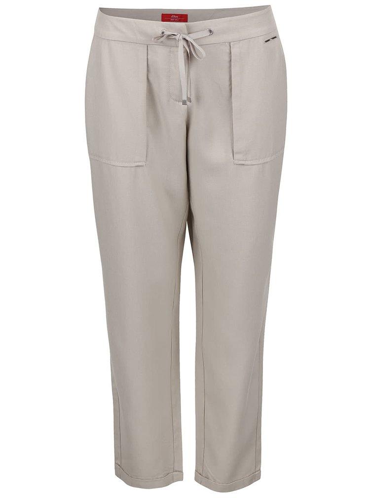 Pantaloni de damă chino s.Oliver bej