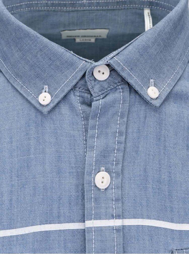 Svetlomodrá pruhovaná košeľa Shine Original