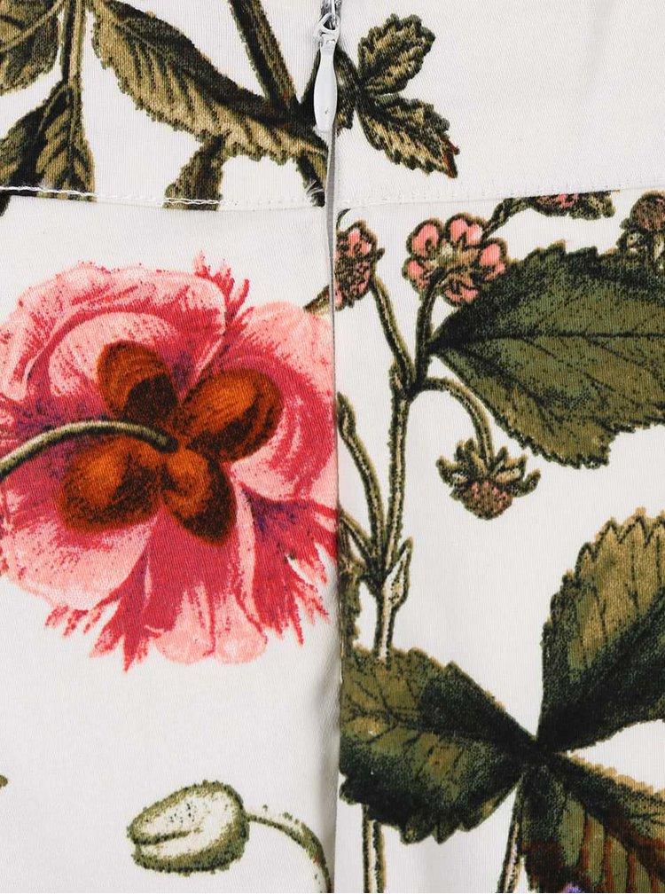 Krémová sukně s potiskem květin Smashed Lemon