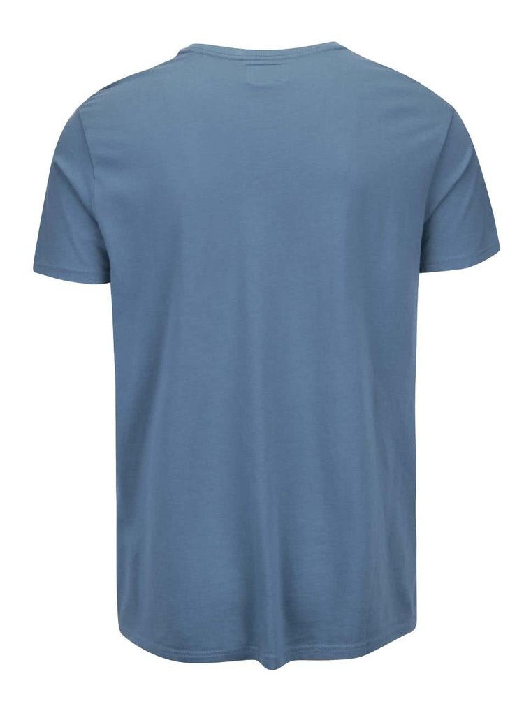 Modré tričko s potlačou Shine Original Authentic