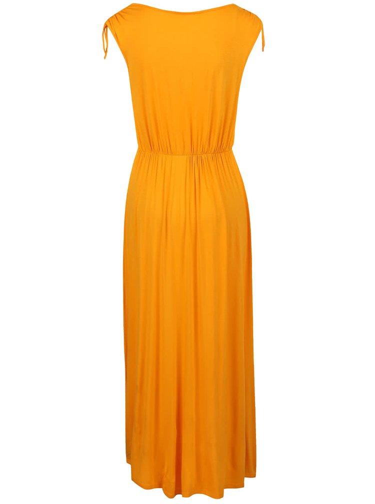Světle oranžové maxišaty Dorothy Perkins Petite