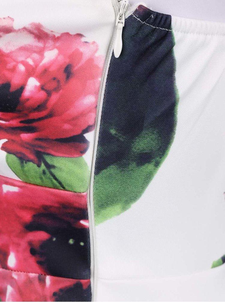 Rochie cu imprimeu floral AX Paris crem