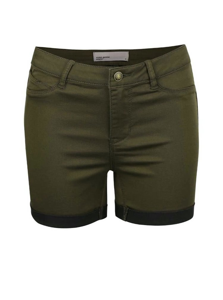 Khaki kraťasy VERO MODA Flex-It