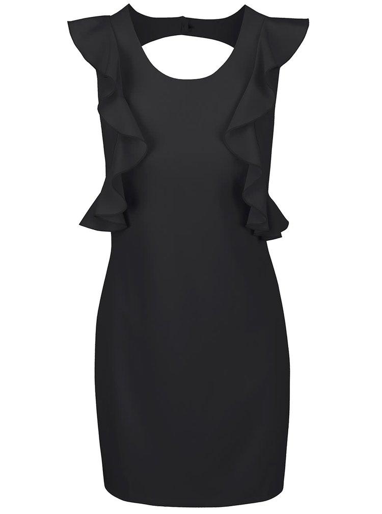 Černé šaty s volánky Alchymi Pyrope