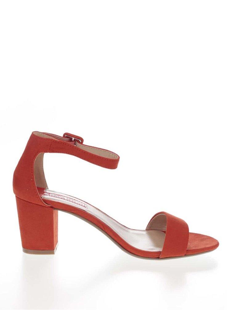 Sandale Dorothy Perkins portocalii