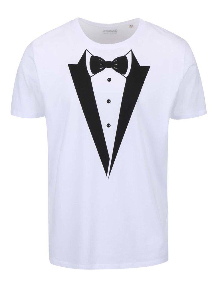 Tricou barbatesc alb cu imprimeu ZOOT Original
