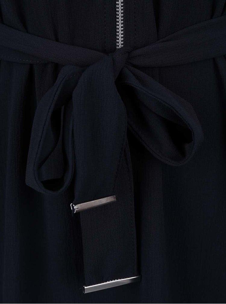 Tmavomodré šaty na zips Dorothy Perkins Petite