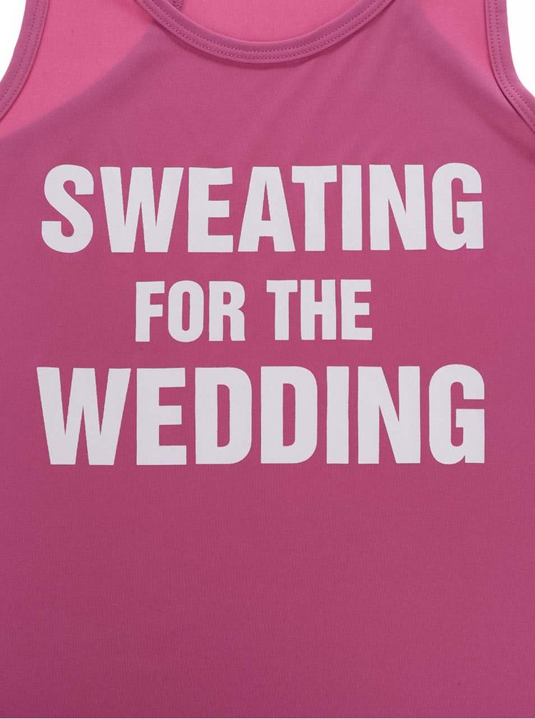 Růžové dámské tílko ZOOT Originál - Fit do svatby