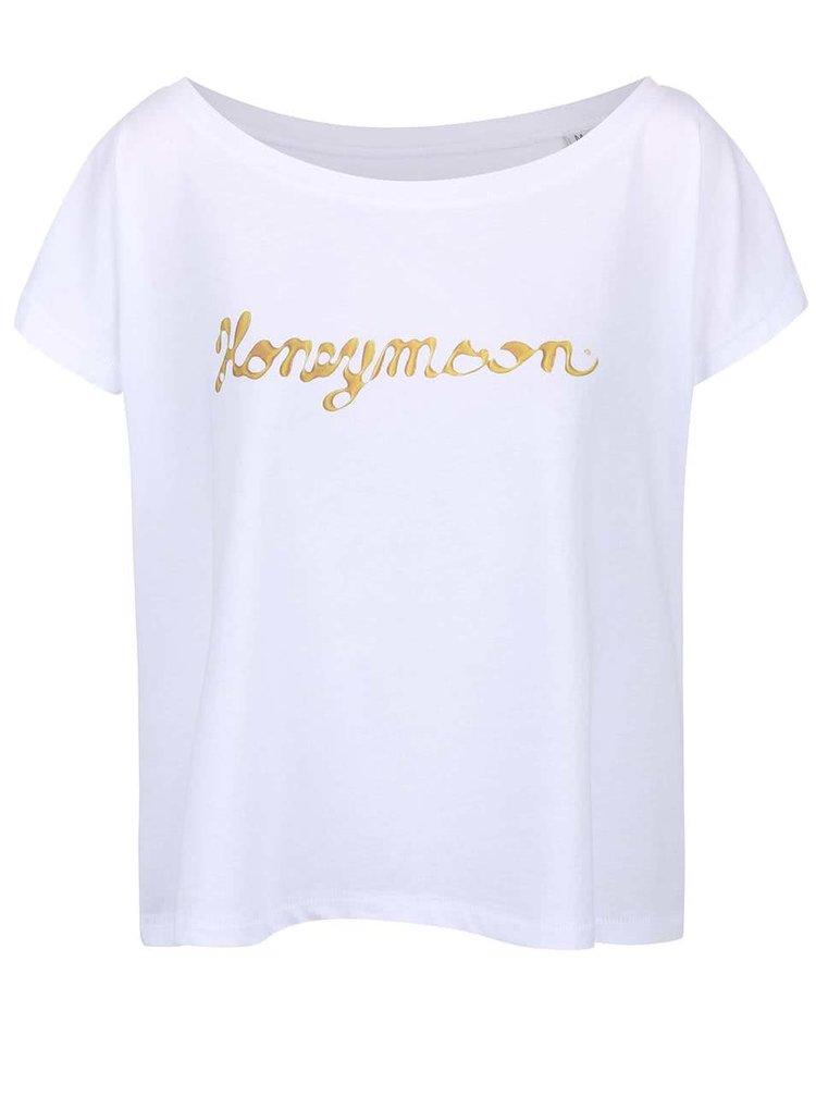 Biele dámske voľnejšie tričko ZOOT Originál Honeymoon