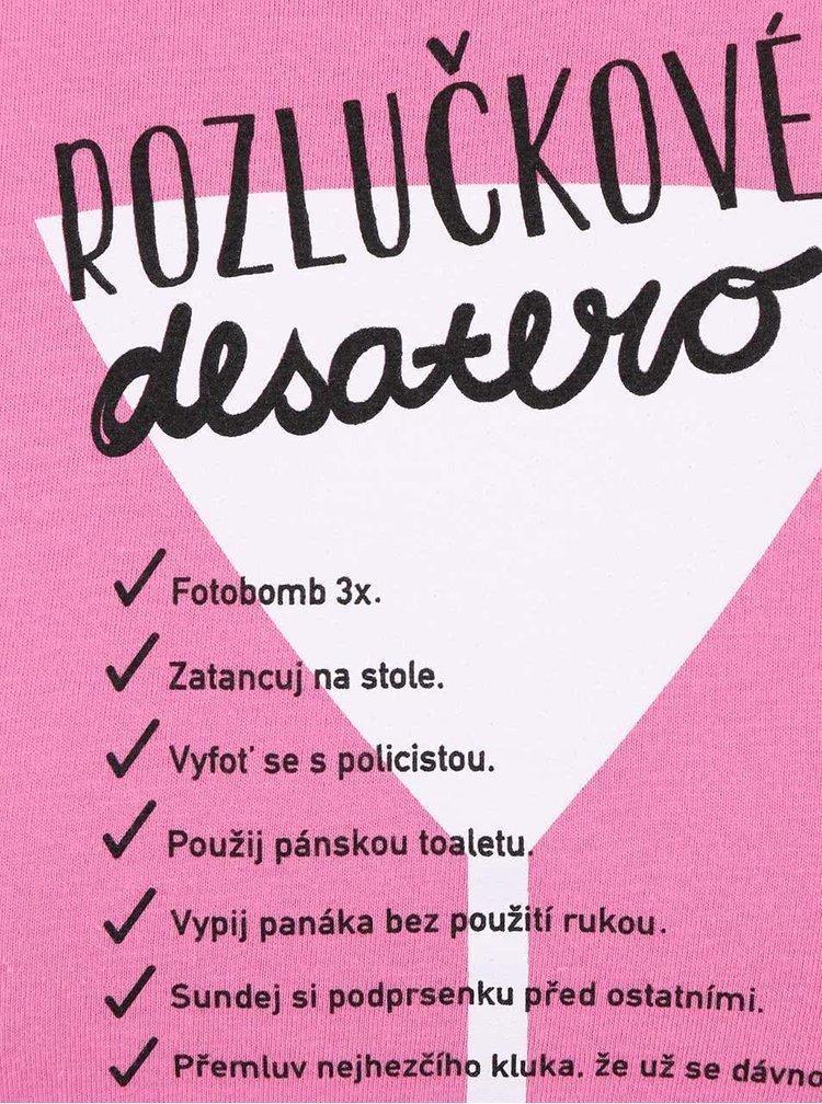 Růžové dámské tričko ZOOT Originál Desatero