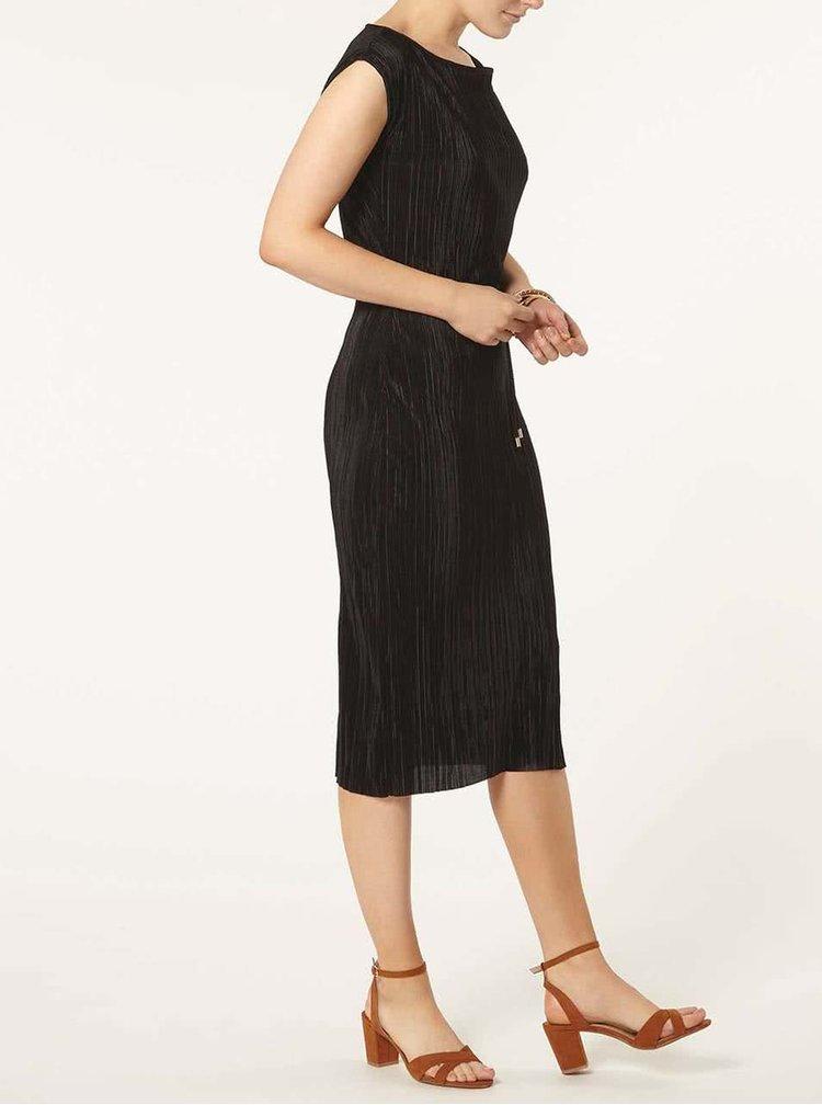 Černé plisované šaty Dorothy Perkins