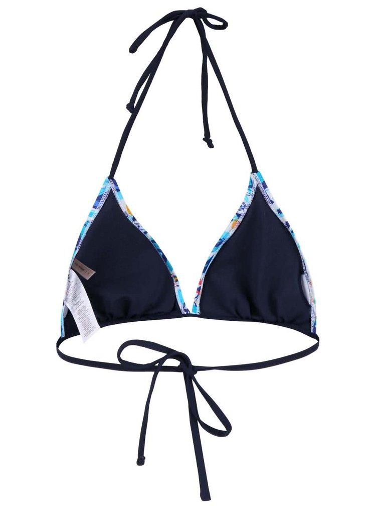 Modrý horní díl plavek se vzorem VERO MODA Palm flower