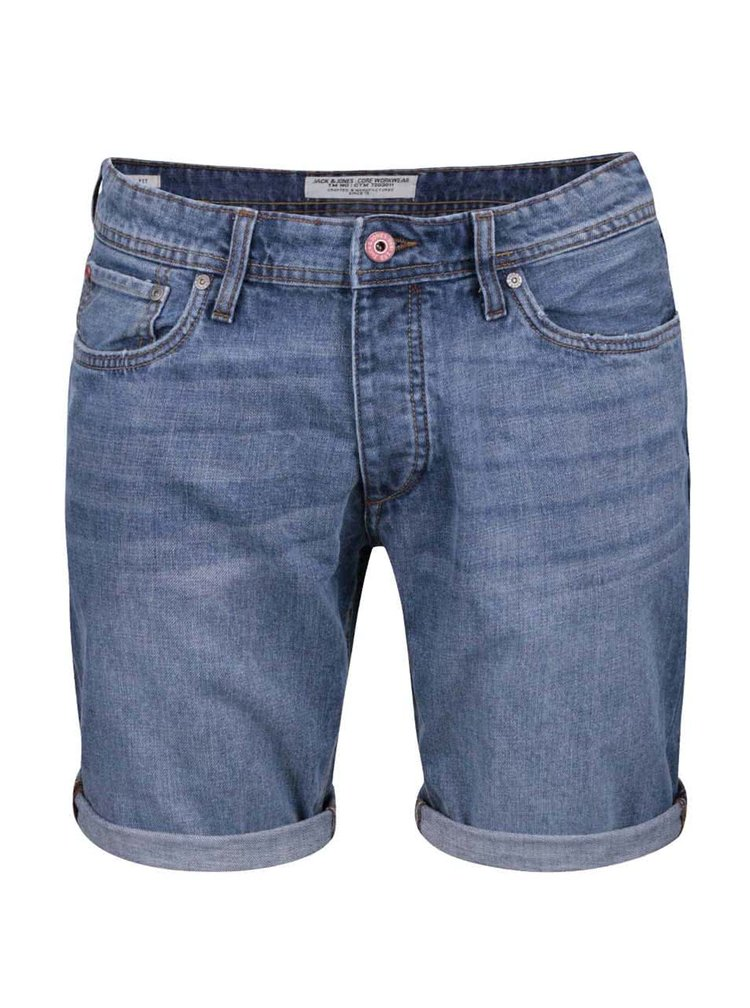 Pantaloni scurti Jack & Jones Rick Original din denim albastri