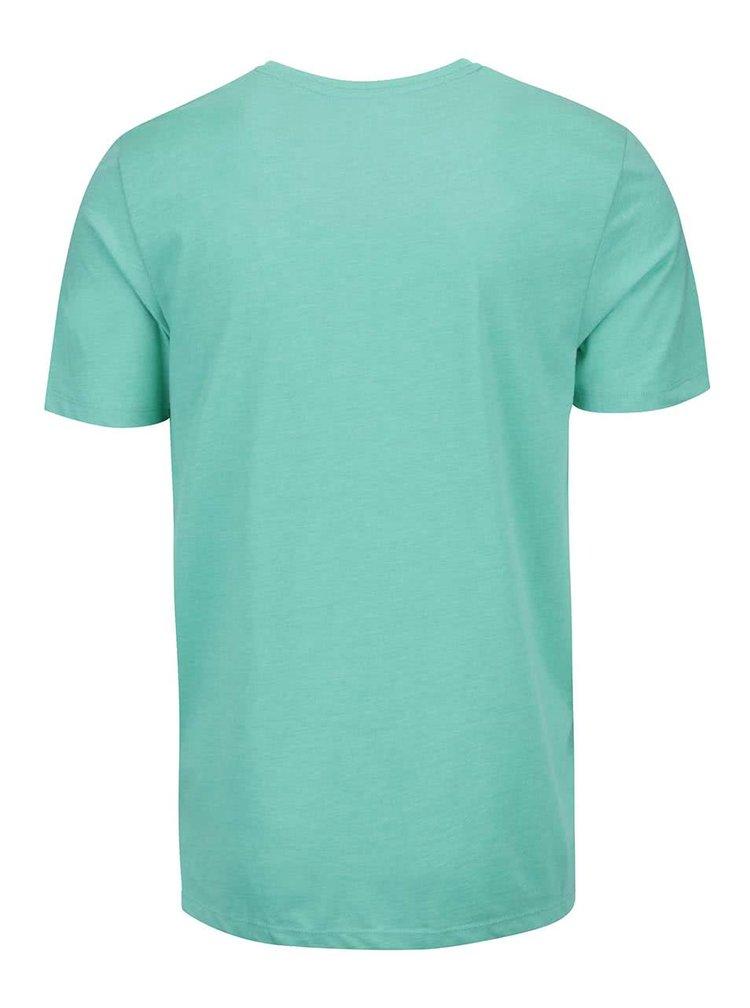 Tricou Jack & Jones Bow verde cu print