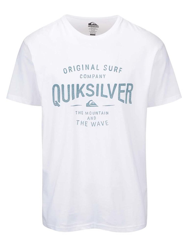 Bílé pánské triko s potiskem Quiksilver Classic Tee Claim It