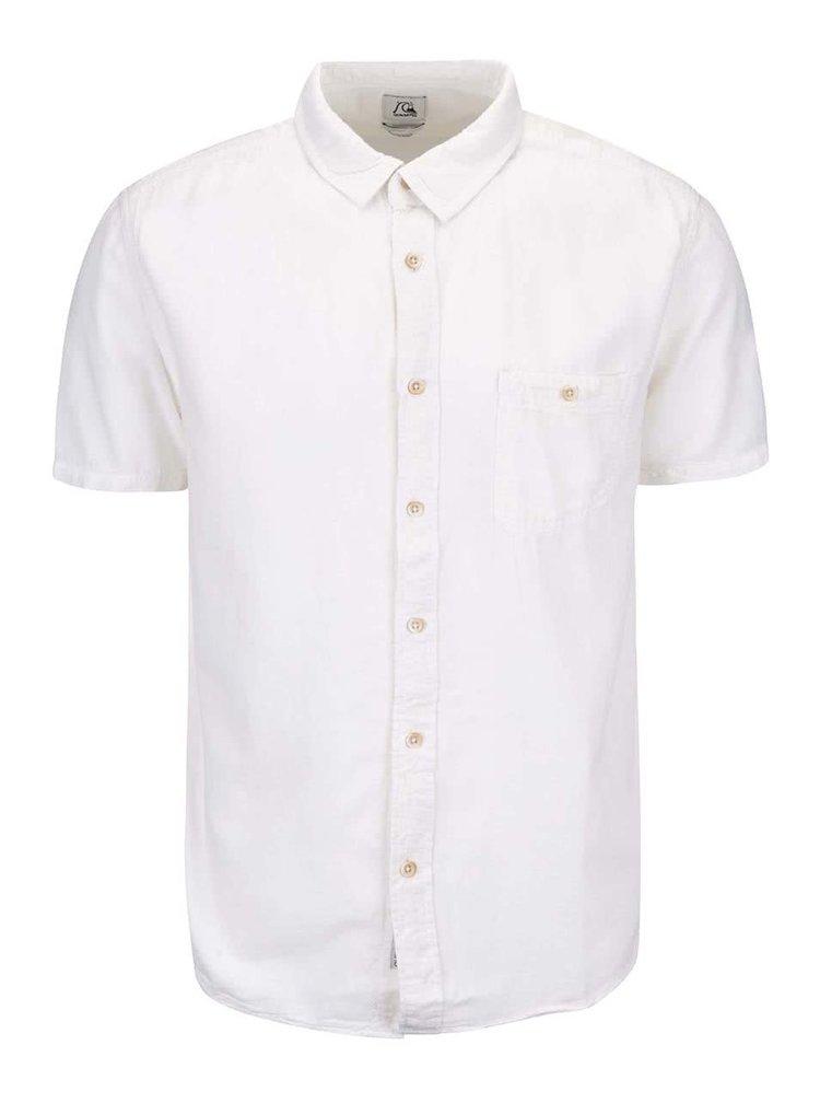 Bílá pánská košile s krátkým rukávem Quiksilver Time Box