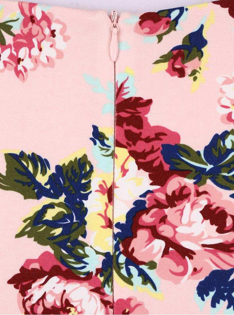 Rochie Fever London Millie roz cu imprimeu