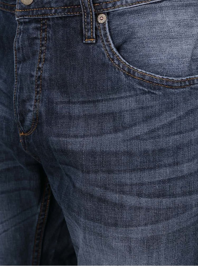 Pantaloni scurți Jack & Jones Rick din denim albastru închis