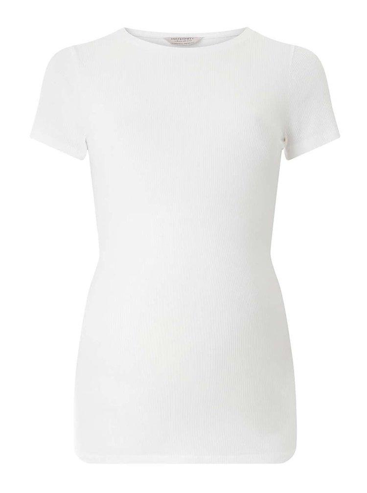Bílé těhotenské tričko Dorothy Perkins Maternity