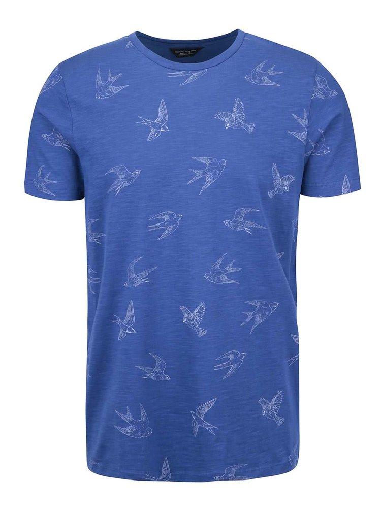 Modré triko se vzorem Jack & Jones Damien