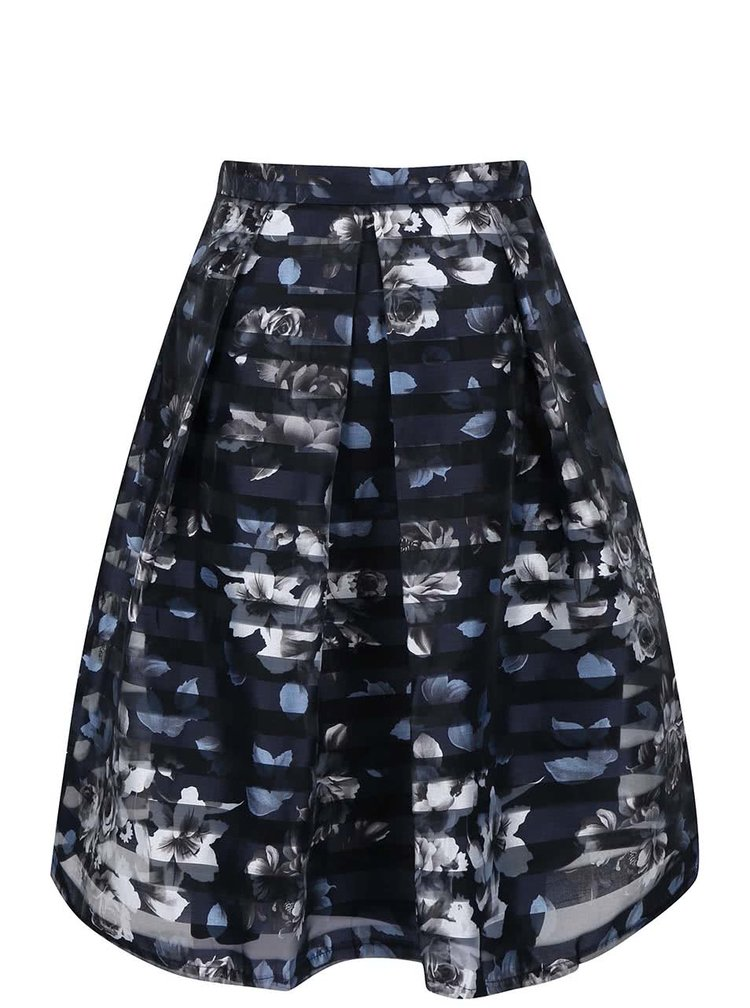 Tmavomodrá organzová sukňa Apricot