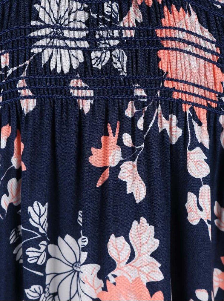 Tmavomodré maxišaty s kvetinovým vzorom Apricot
