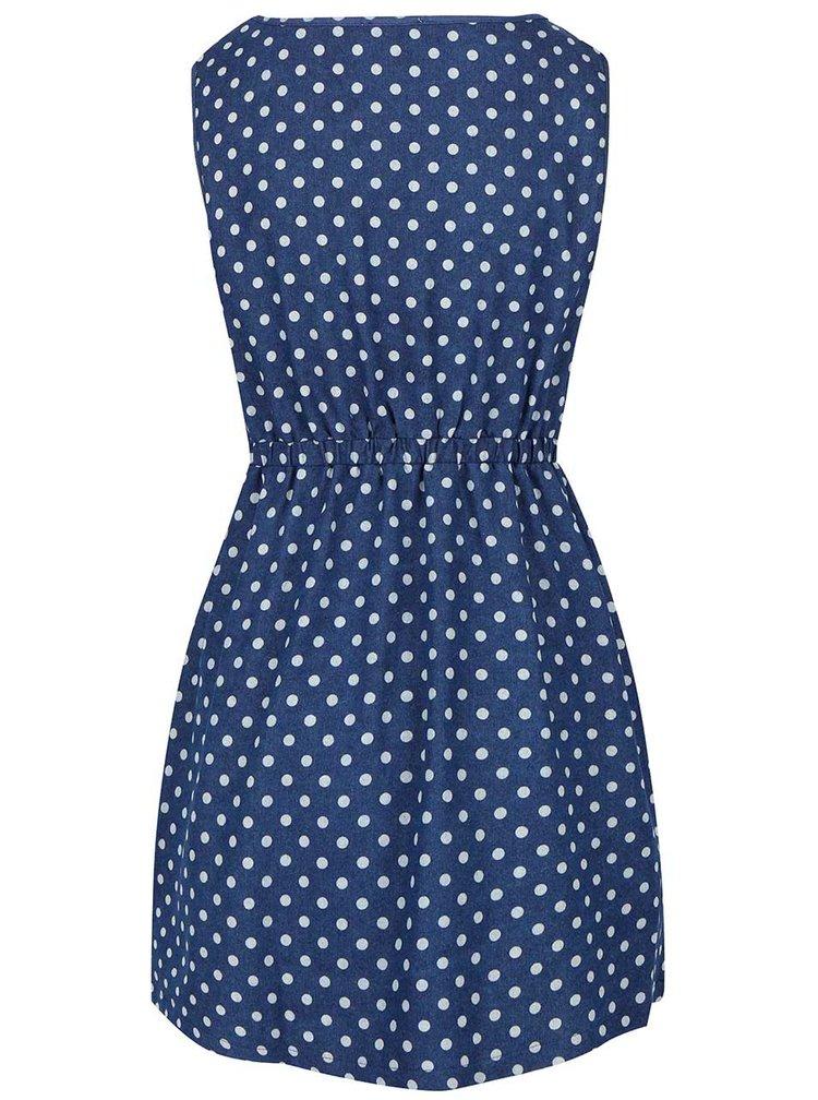 Modré šaty s puntíky Apricot