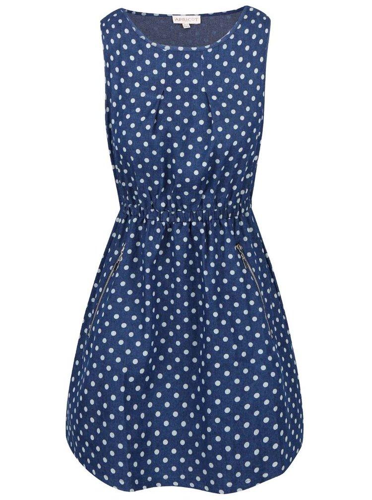 Modré šaty s bodkami Apricot