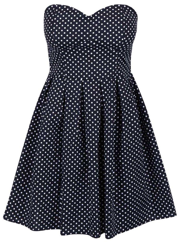 Tmavě modré šaty s odepínatelnými ramínky Apricot
