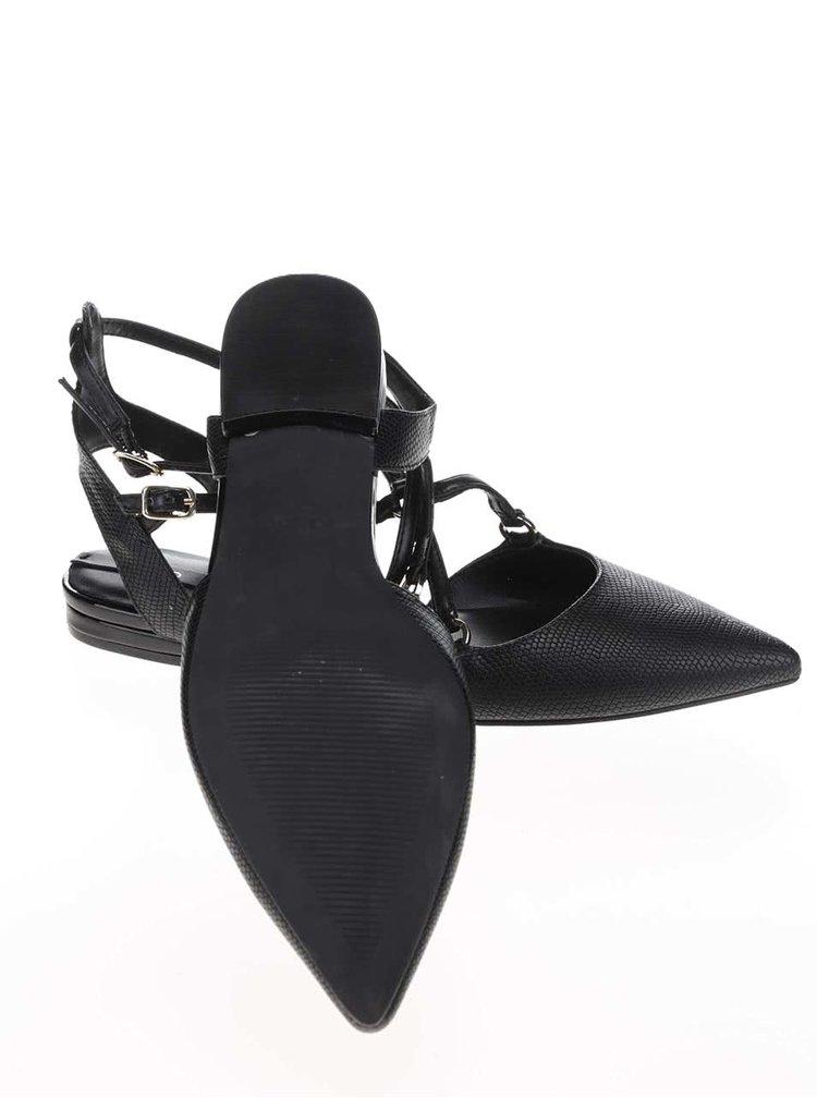 Čierne sandále s ozdobným remienkom ALDO Eddiva