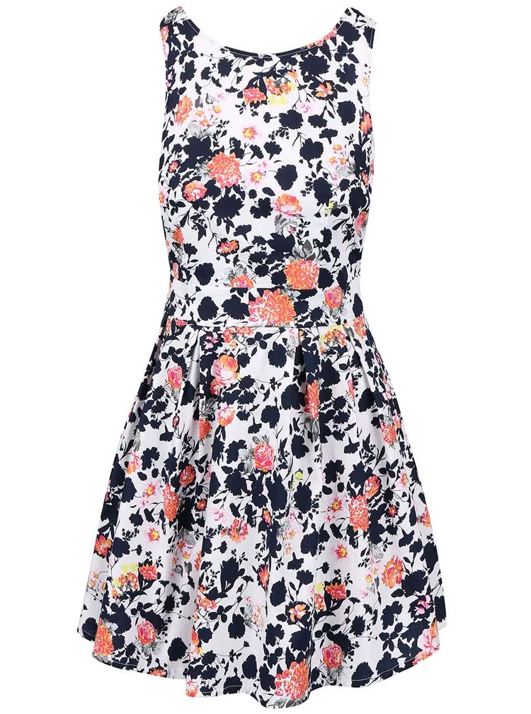 Biele kvetované šaty Apricot