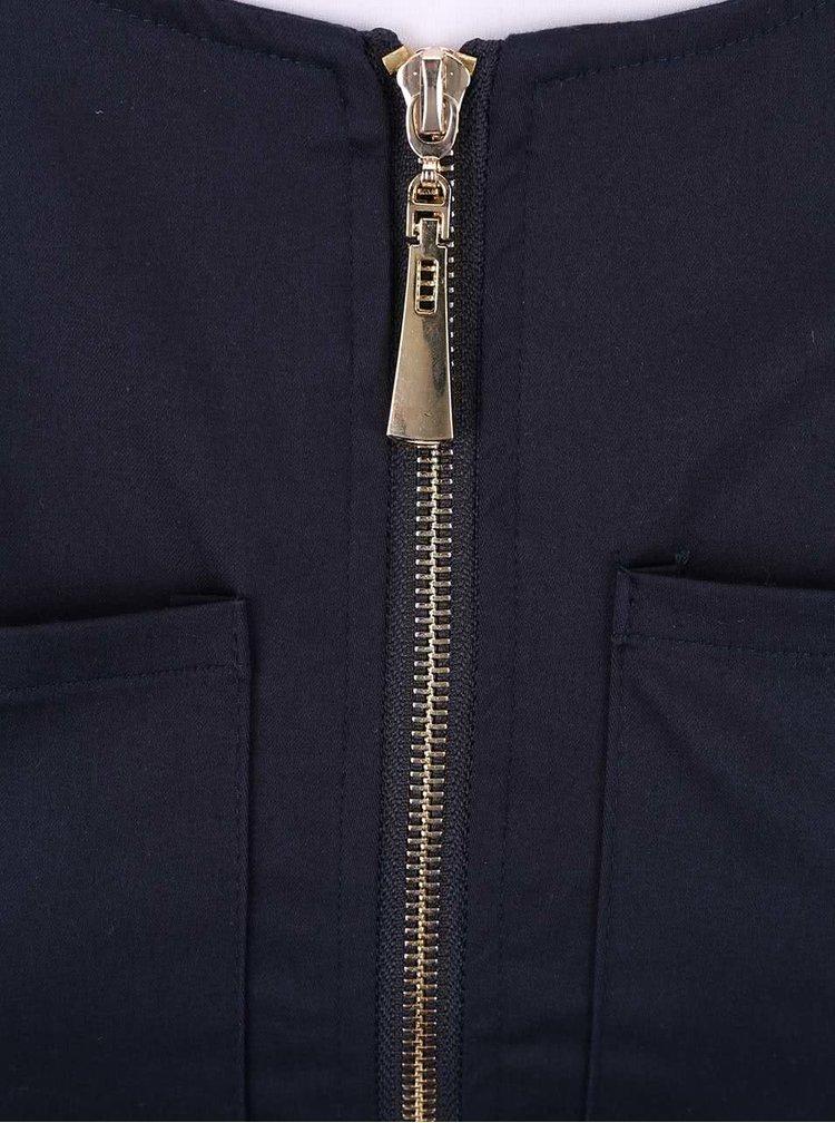 Tmavomodré šaty na zips Apricot