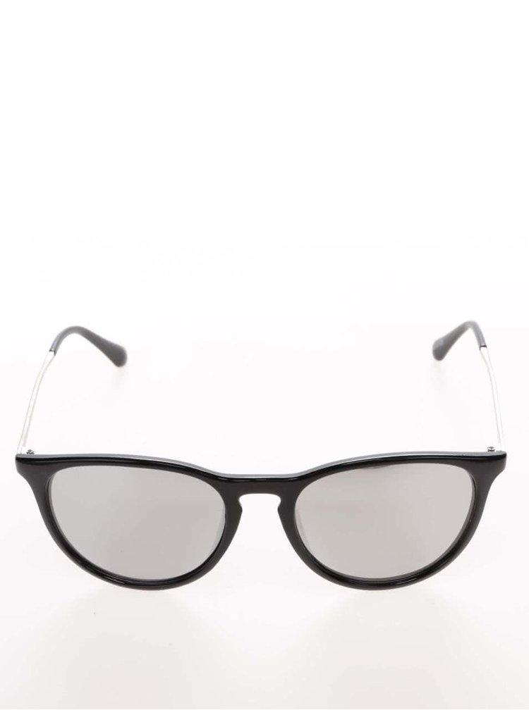 Černé lesklé sluneční brýle se zrcadlovými skly Haily´s Bali