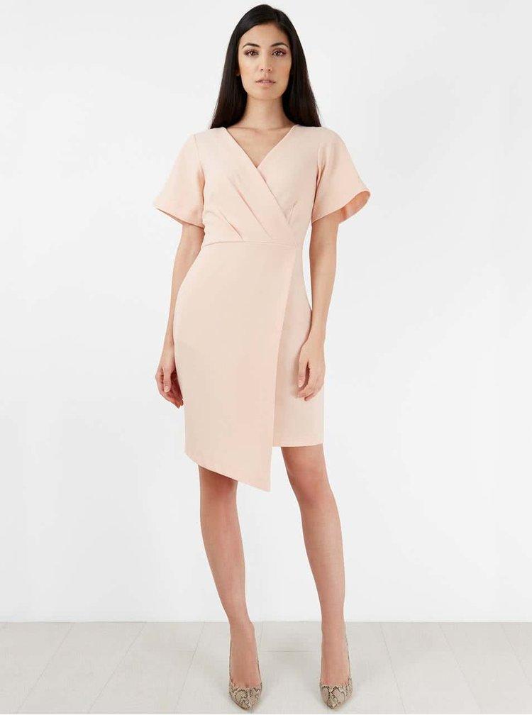 Svetloružové šaty Closet