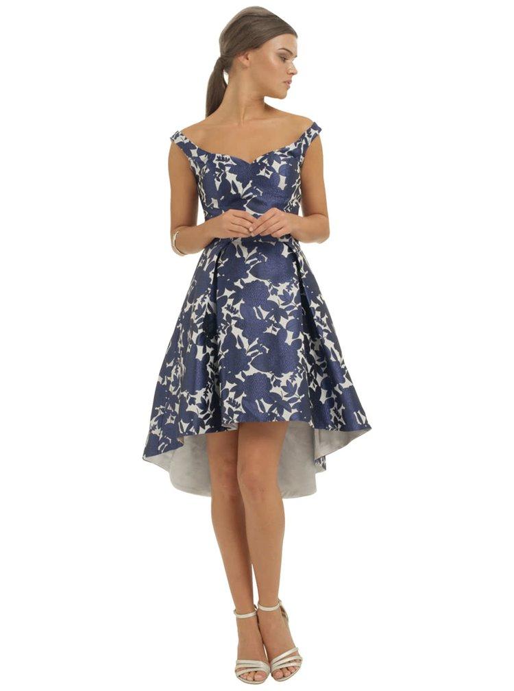 Tmavomodré kvetované šaty Chi Chi London Arabella