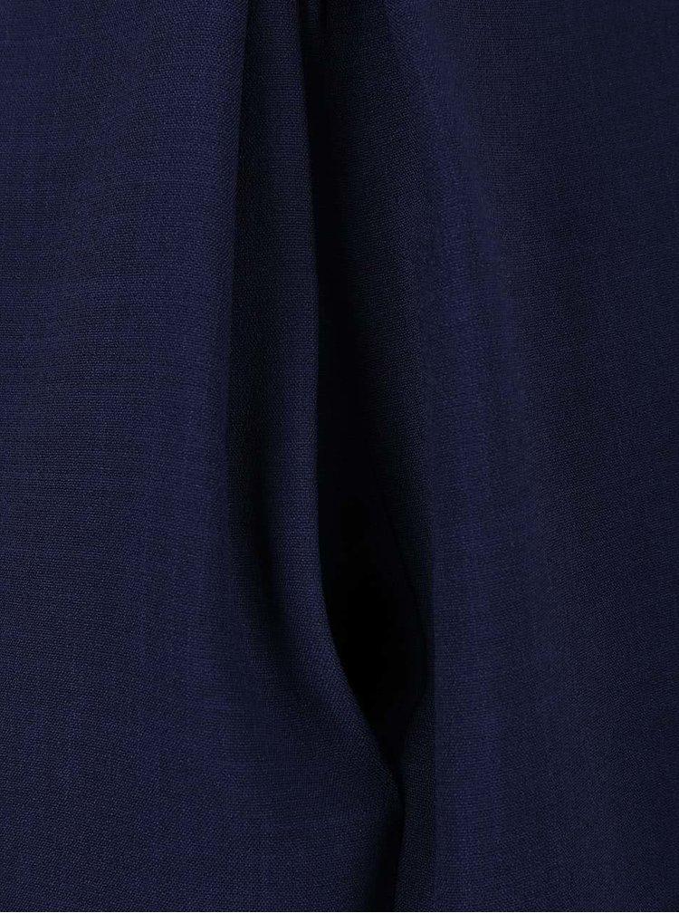 Tmavě modré šaty s krajkovým lemem Closet