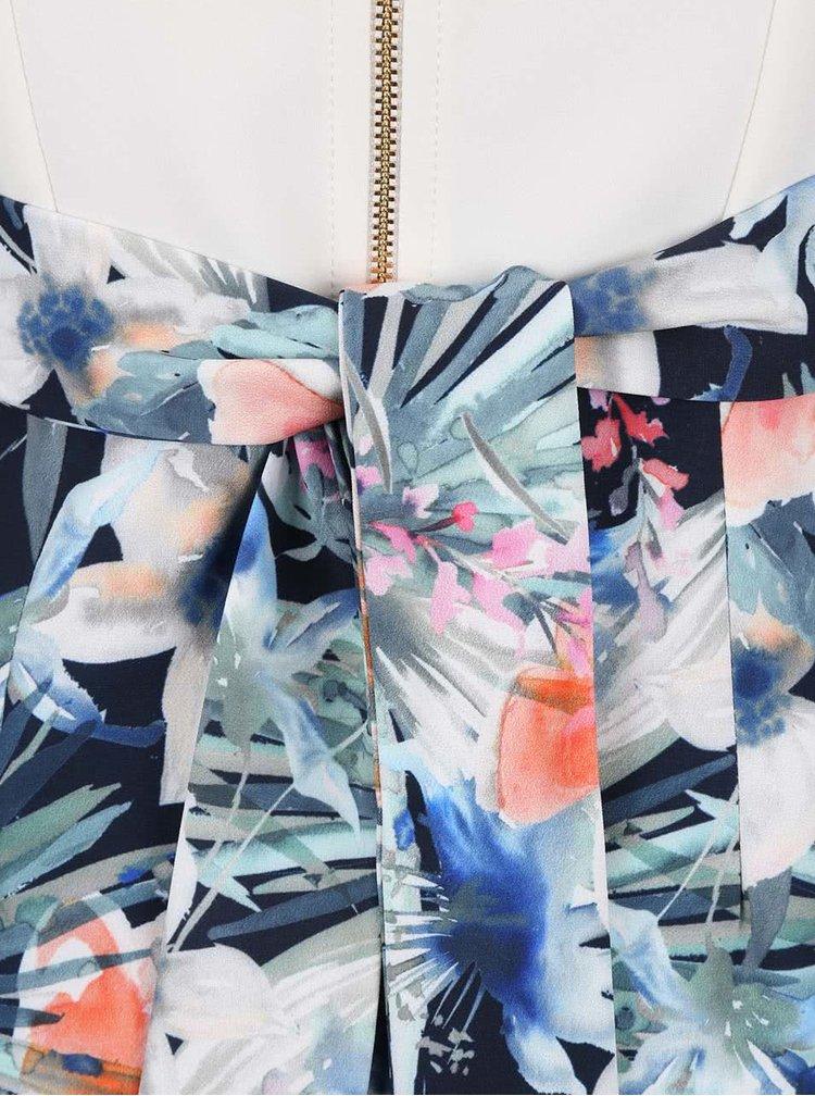 Barevné květované šaty s krémovým topem Closet