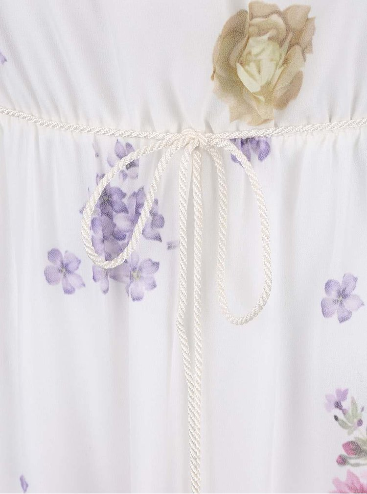 Krémové maxišaty s barevnými květy Haily´s Kelsie