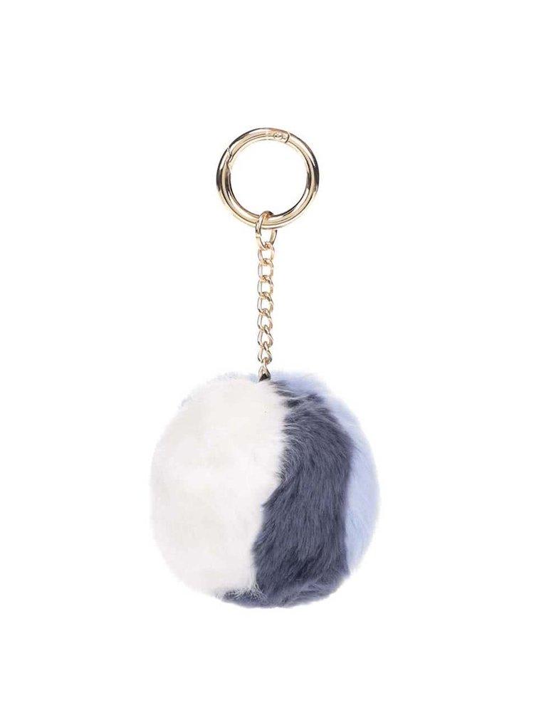 Bielo-modrý guľatý prívesok Dorothy Perkins