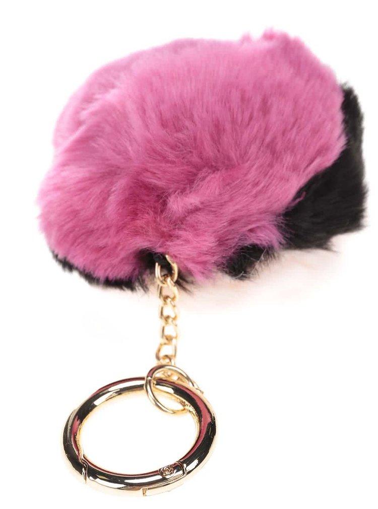 Čierno-ružový guľatý prívesok Dorothy Perkins