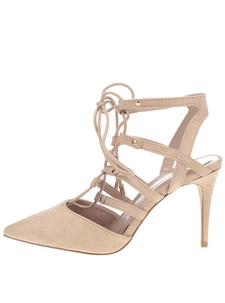 Béžové sandály v semišové úpravě Dorothy Perkins