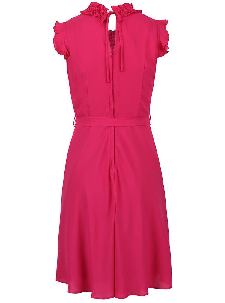 Růžové šaty s volánky Dorothy Perkins