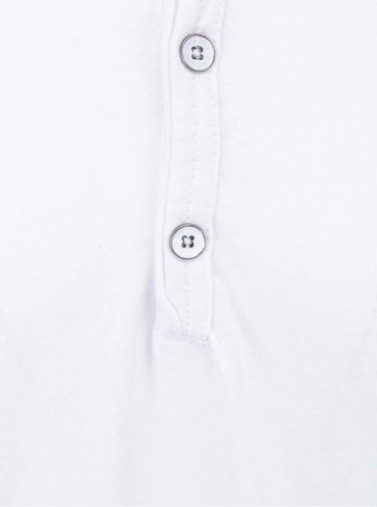 Bílé triko s knoflíčky !Solid Sinan
